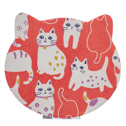 14589  japanese compact folding mirror  cat design