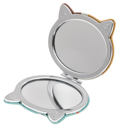 14590 japanese cat shaped compact mirror  open