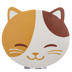14590 happy cat compact mirror  face
