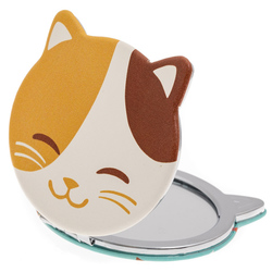 14590 compact folding mirror   happy cat design