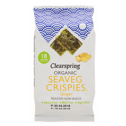 14612 clearspring seaveg crispies toasted nori snack   ginger