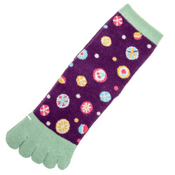 14594 women's toe socks   purple  japanese sweets