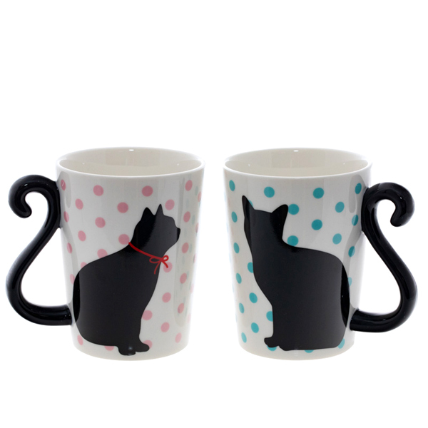 14641 artha ceramic mugs   cat design  couple