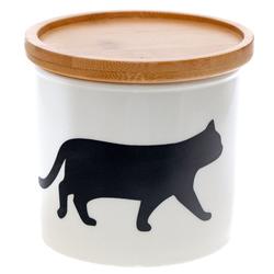 14642 artha ceramic silhouette canister   cat  walking