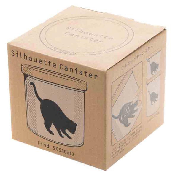 14643 artha ceramic silhouette canister   find  box