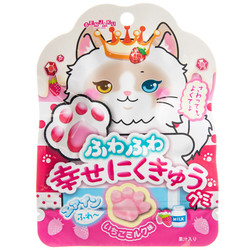 14653 senjyakuame paw shaped strawberry milk gummy candy