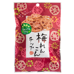 14658 sokan ume plum flavoured lotus root crisps