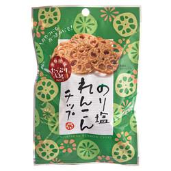 14660 sokan nori shio seaweed salt flavoured lotus root crisps