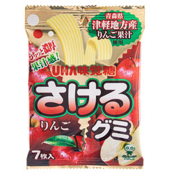 14662 mikakuto sakeru gumi apple flavoured gummy belts