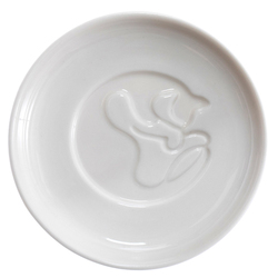 14632 artha ceramic soy sauce dish   cat pattern  laying down