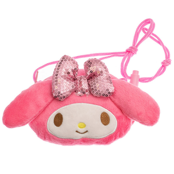 14711 sanrio my melody character shaped purse with rope