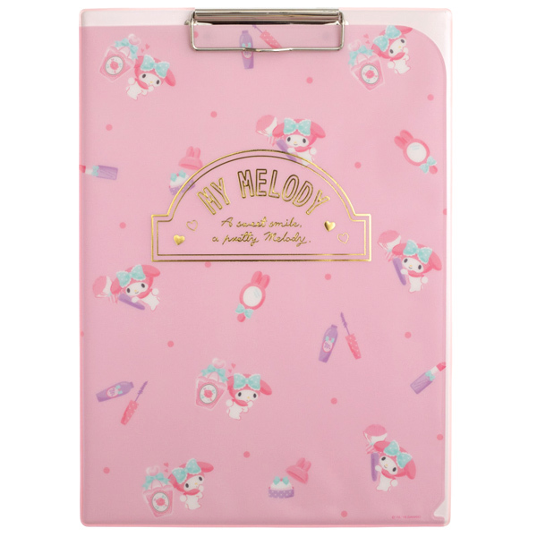 14738 sanrio my melody clipboard with file holder