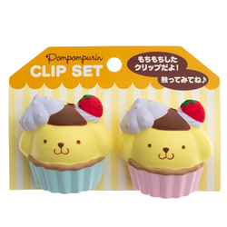 14768 sanrio pompompurin clip sets cupcakes