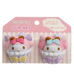 14766 sanrio my melody clip set cupcakes