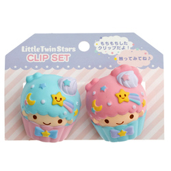 14767 sanrio little twin stars clip set cupcakes