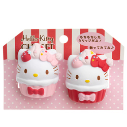 14765 sanrio hello kitty clip set cupcakes