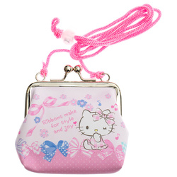 14735 sanrio hello kitty coin purse with ribbon