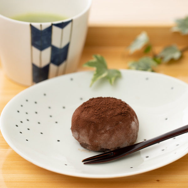 13805 dark chocolate truffle mochi dessert