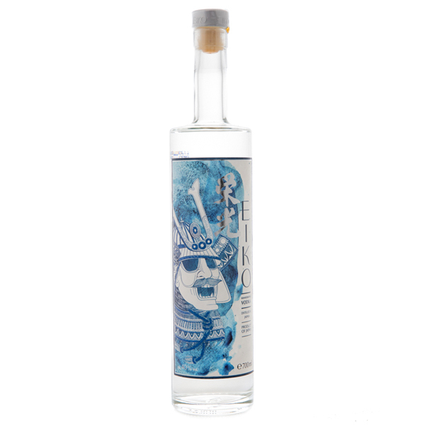 14823 eiko vodka  blue bottle