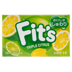 14825 lotte fit's triple citrus chewing gum