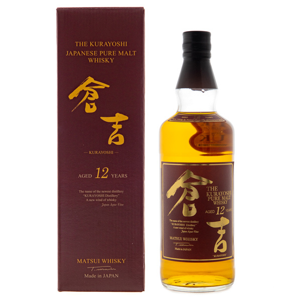 14815 matsui whisky the kurayoshi japanese pure malt whisky   aged 12 years