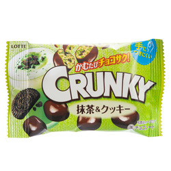 14749 lotte crunky matcha green tea and cookie chocolates