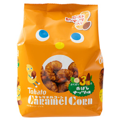 14803 tohato caramel corn roasted nut flavoured snacks