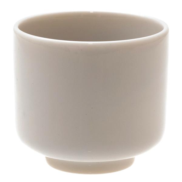 14693 ceramic sake cup   white  blue circles pattern
