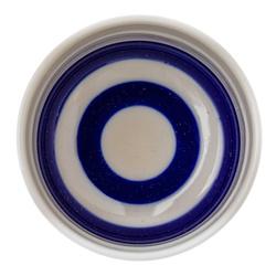 14693 ceramic sake ochoko cup   blue concentric circles  from above