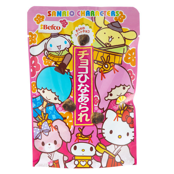 14859 kuriyamabeika hello kitty chocolate covered hina arare rice crackers