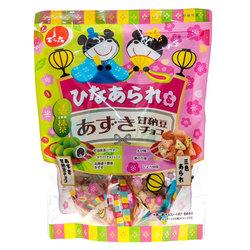 14860 denroku hina arare rice crackers and matcha chocolate azuki beans
