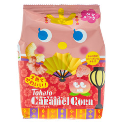 14863 tohato caramel corn peach flavoured snacks   hina matsuri edition