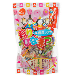 14861 denroku chocolate peanut and rice cracker variety pack for hina matsuri