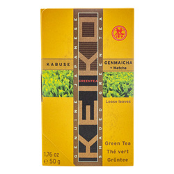 14880 keiko tea organic loose kabuse genmaicha brown rice tea with matcha