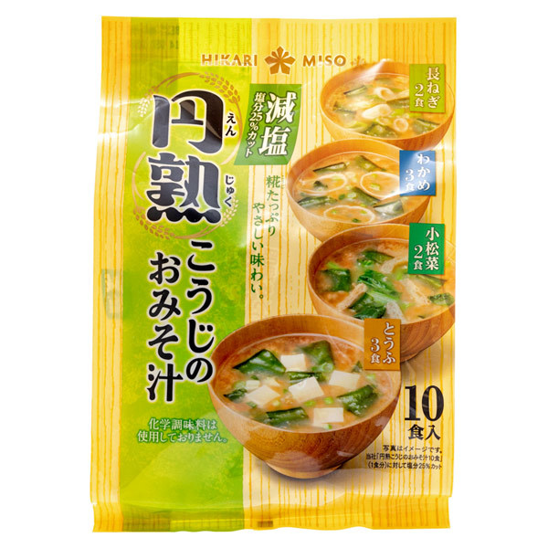 14882 hikari miso reduced salt instant koji miso soup variety pack