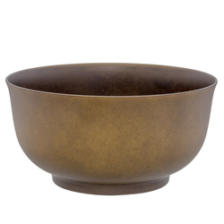 14906 plastic noodle bowl   khaki  wood effect
