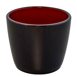 14921 plastic soba ochoko cup   black and red