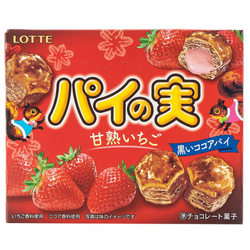 14952 lotte strawberry chocolate pie biscuits