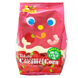 14948 tohato caramel corn condensed milk and strawberry snacks