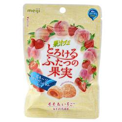 14954 meiji peach and strawberry fruit juice gummy