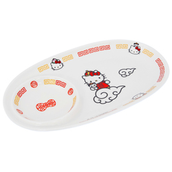 15032  sanrio hello kitty ceramic serving plate for gyoza