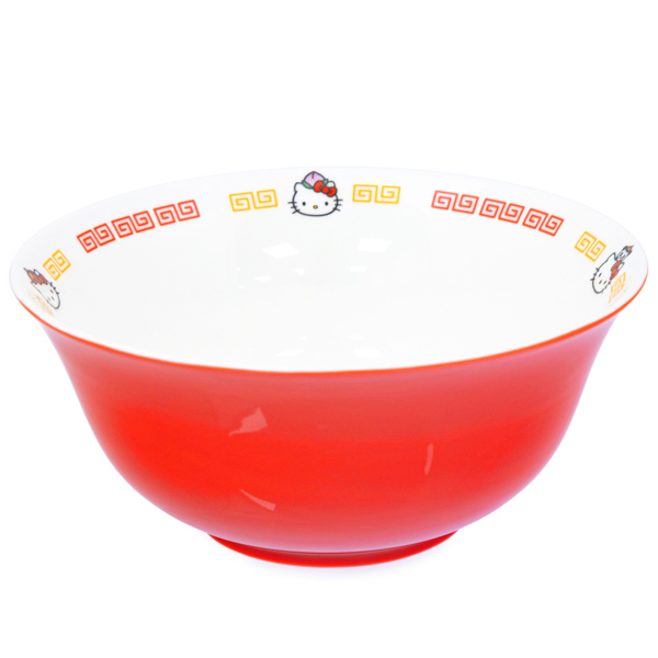 15041  sanrio hello kitty ceramic donburi ramen noodle bowl   side view