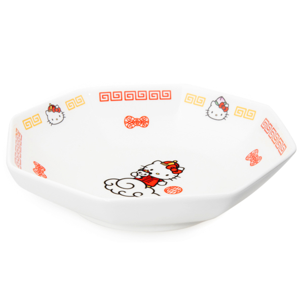 15042  sanrio hello kitty ceramic octagonal serving bowl for fried rice