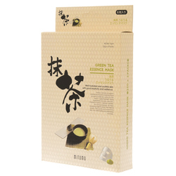 13771  mitomo green tea essence face masks   outer packaging