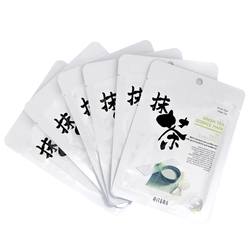 13771  mitomo green tea essence face mask   individual packs