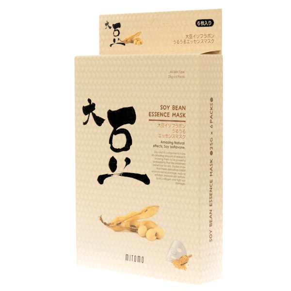 13768  mitomo soy bean essence face masks   outer packaging