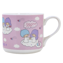 15033 sanrio little twin stars ceramic mug   pink  cloud pattern 2