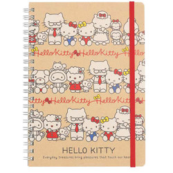 15036  sanrio hello kitty   family a5 notebook