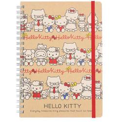 15036  sanrio hello kitty   family a5 notebook