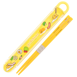 15062  sanrio gudetama bento chopsticks with case